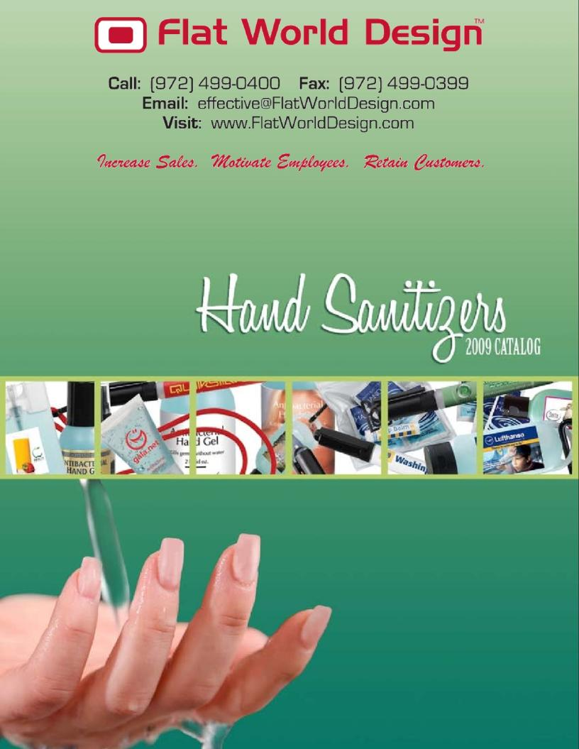 Flat World Design - Sanitizers - Flipper Catalog