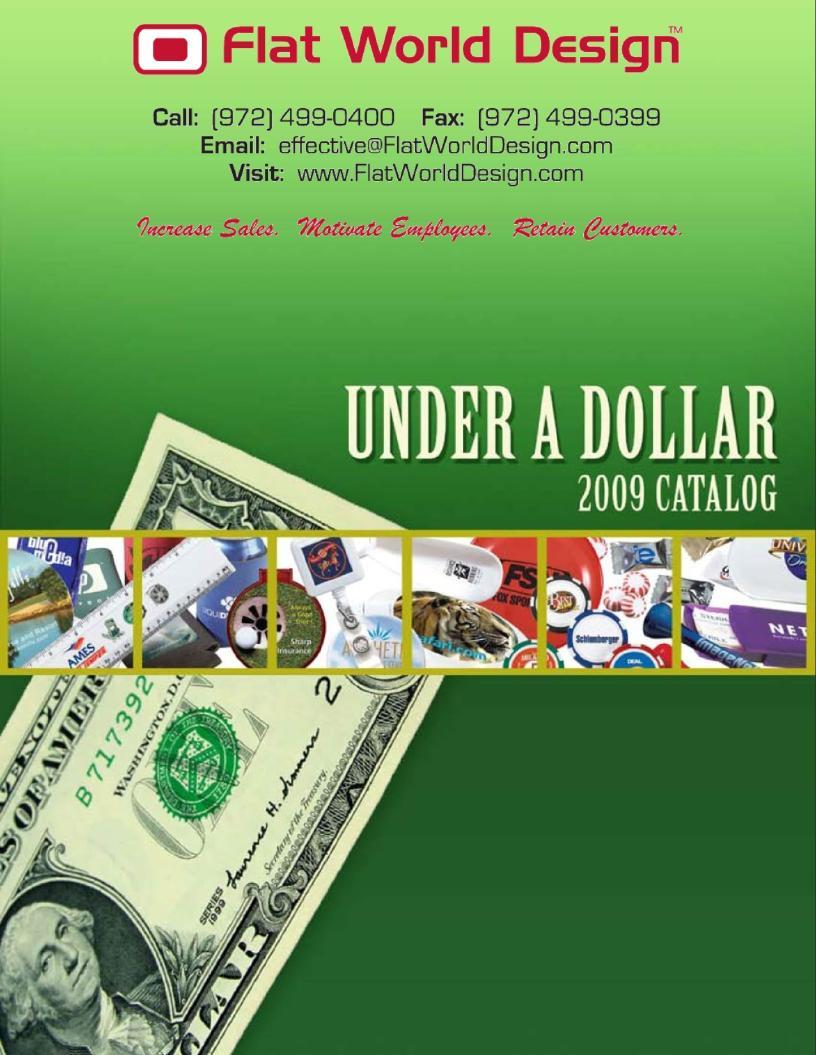 Flat World Design - Under a Dollar - Flipper Catalog