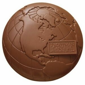 Molded chocolate for Earth Day