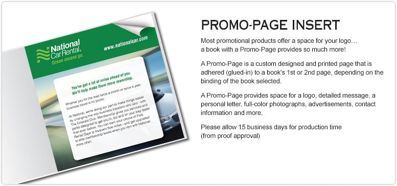 Customized-Promotional-Books-Promo-Page-Option
